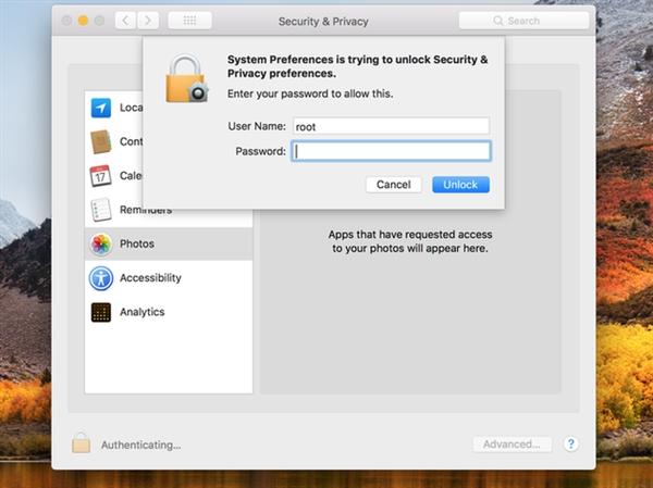 Mac用户中招:系统藏大漏洞 密码设置形同虚设
